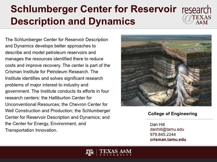 schlumberger_center_for_reservoir_description_and_dynamics