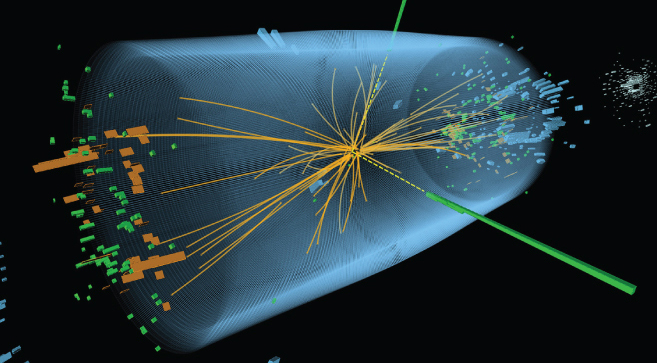 Illustration of a Higgs boson experiment