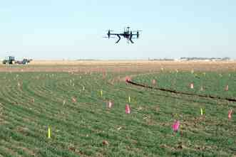Helicopter drones help producers make better choices for irrigation