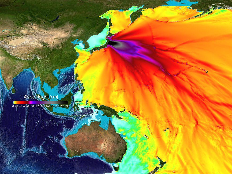 map of western rim of Pacific Ocean