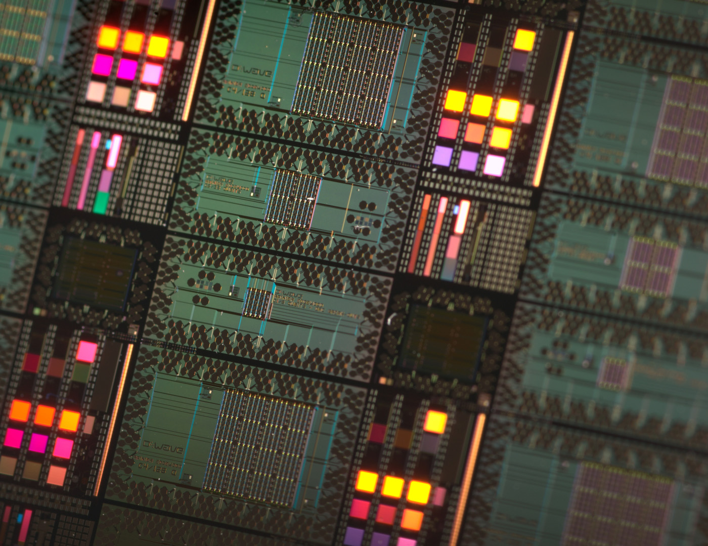 D-Wave quantum chip on a wafer