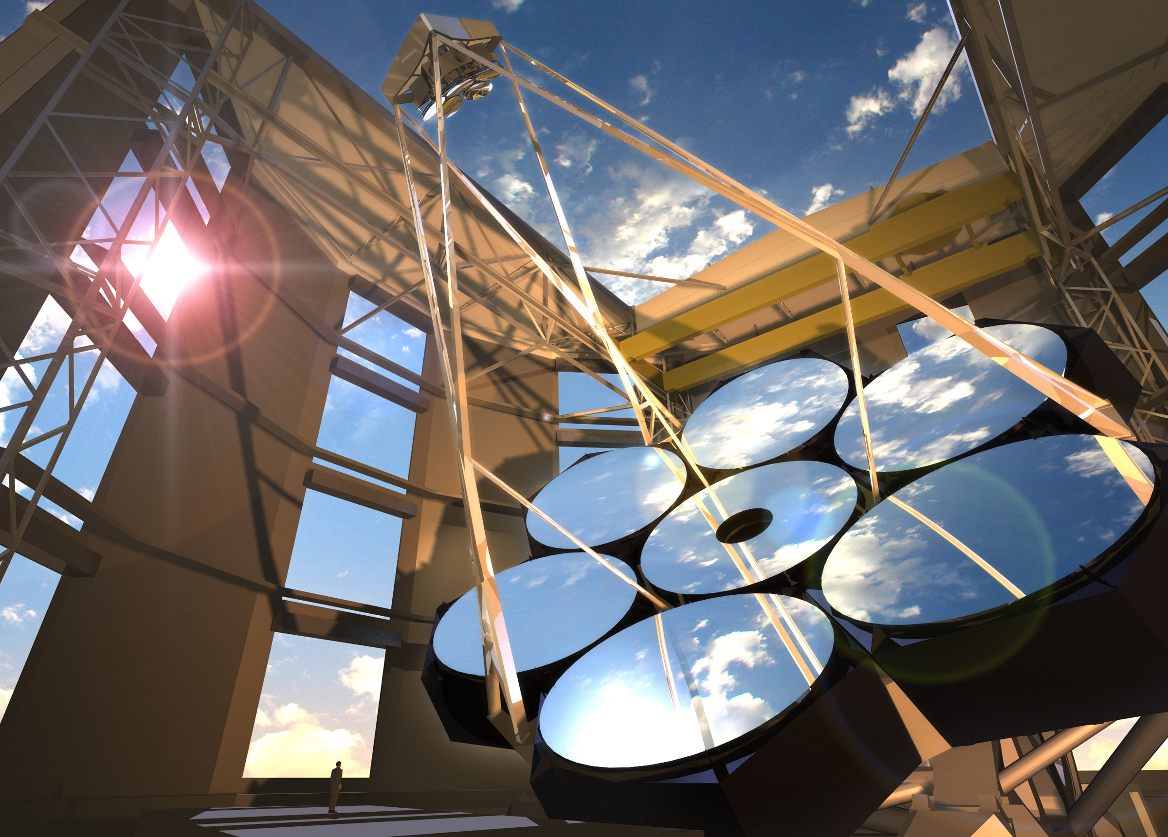 Artist's rendering of the Giant Magellan Telescope