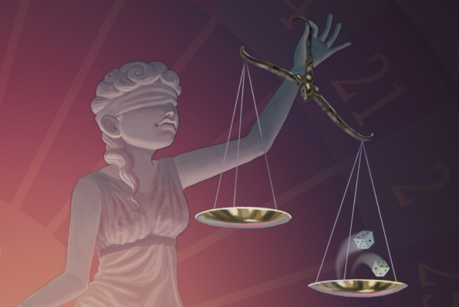 Who places blame for reckless acts? Often it's Lady Luck, not Lady Justice