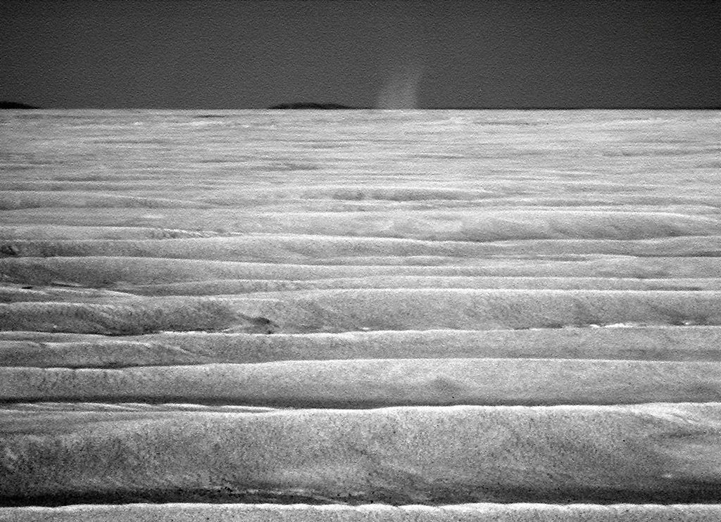 dust dunes on surface of planet Mars