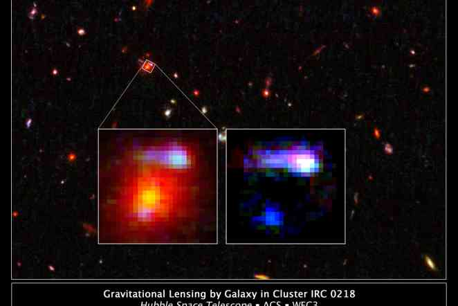 Cosmic magnifying glass: Team finds the most distant 'lensing galaxy' yet