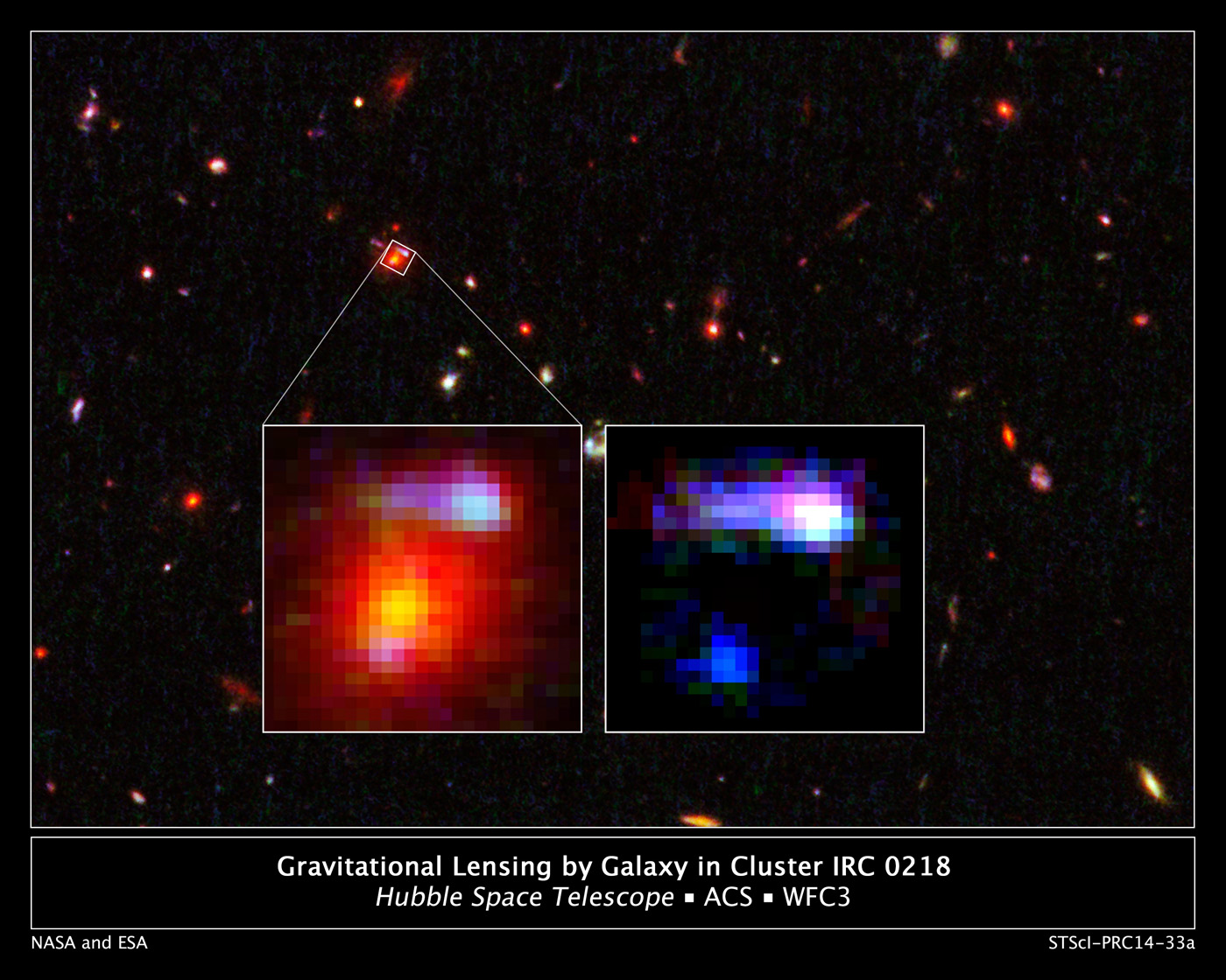 composite map of distant stars