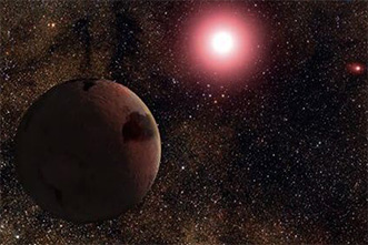 Twice the mass of Earth, new planet orbits one star in a two-star system