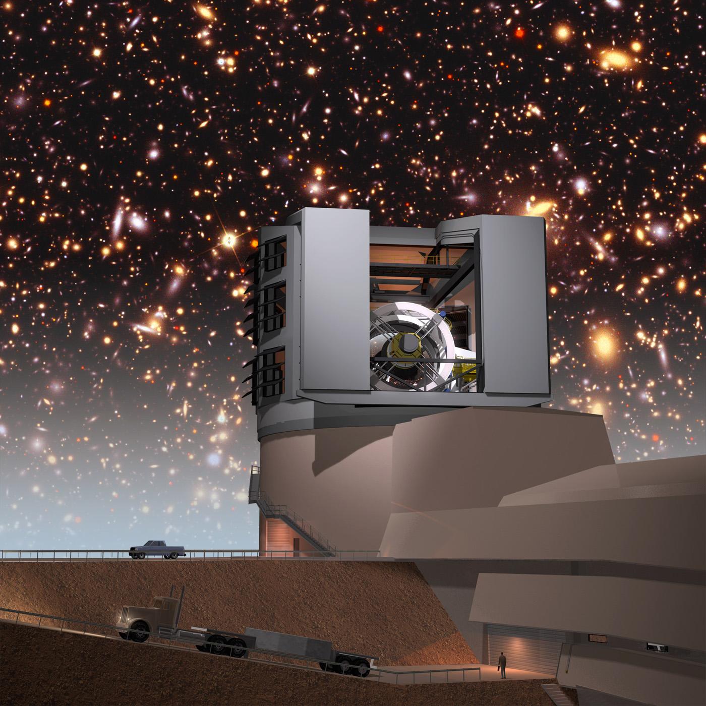Observatory set against a night sky