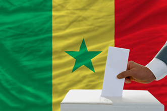 How do local elites influence voting in new democracies like Senegal?