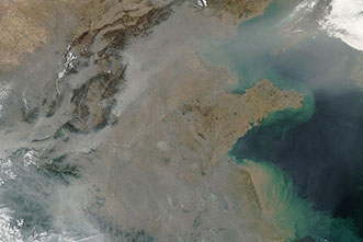 Haze over China is a mix of weather, emissions and aerosols, study says