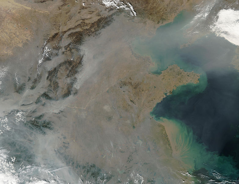 Haze covers Chinese mainland in photo from space