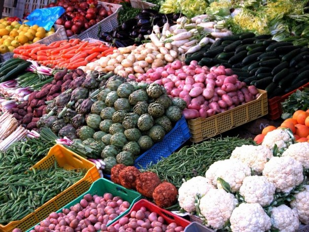 display of wide range of vegetables