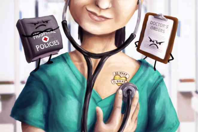 Positive deviance: Why do nurses decide to violate policies and orders?