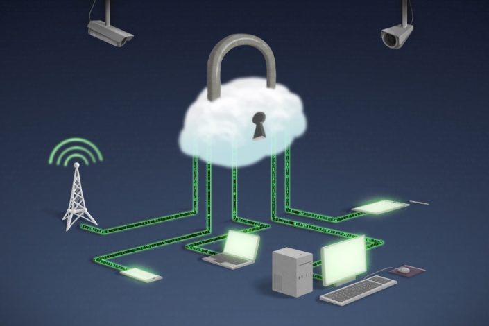 illustration of a new cybersecurity concept