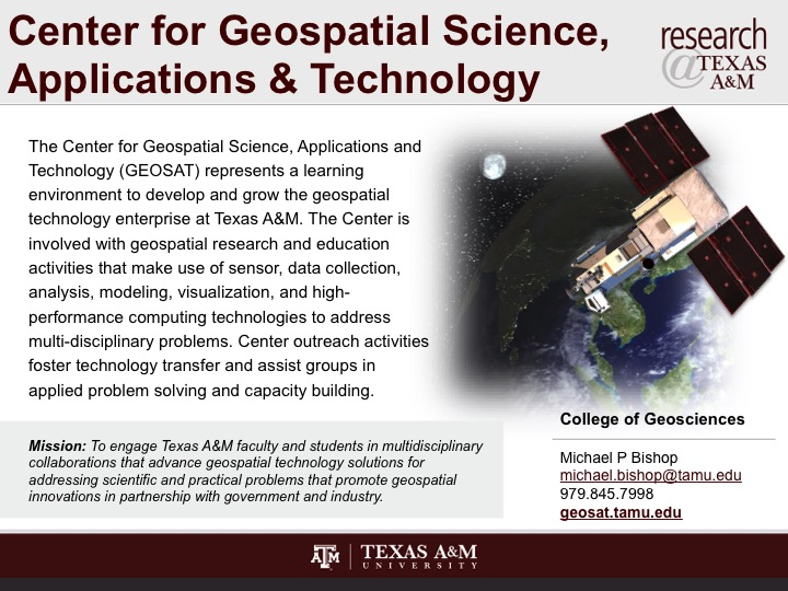 GIS and Science | Applications of geospatial technology ...