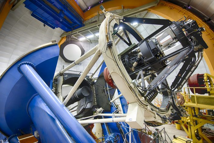 Dark Energy Camera, one of the most powerful survey instruments of its kind that is able to see light from more than 100,000 galaxies up to 8 billion light years away in each snapshot