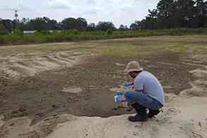 Superfund researcher takes samples of soil, air and water after hurricane