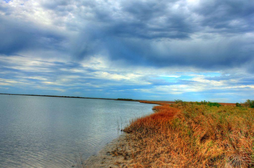 Galveston Bay as seen from shore