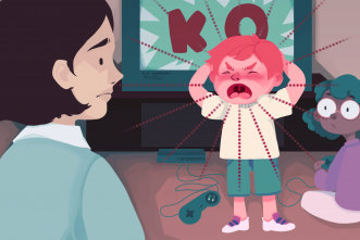How do self-control issues influence behavior problems in children?