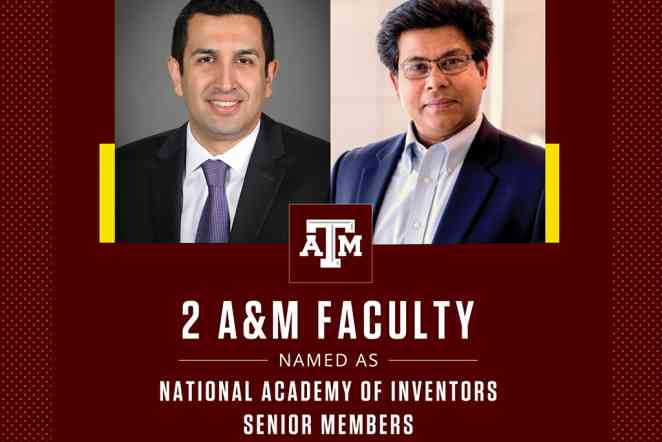 National Academy of Inventors names two Texas A&M professors as NAI Senior Members