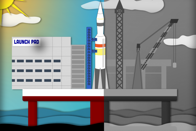From sea to space and back again: Offshore platforms for rocket travel